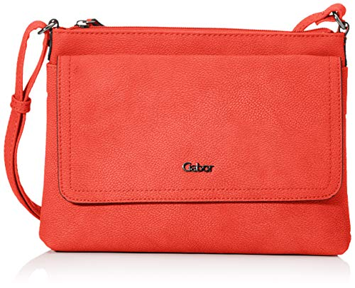 Gabor bags Umhängetasche Damen Dina, Rot, M, Rucksackhandtasche, Tasche Damen