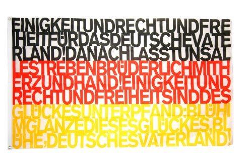 Flagge / Fahne Deutschland Nationalhymne - 90 x 150 cm, Flaggenfritze®