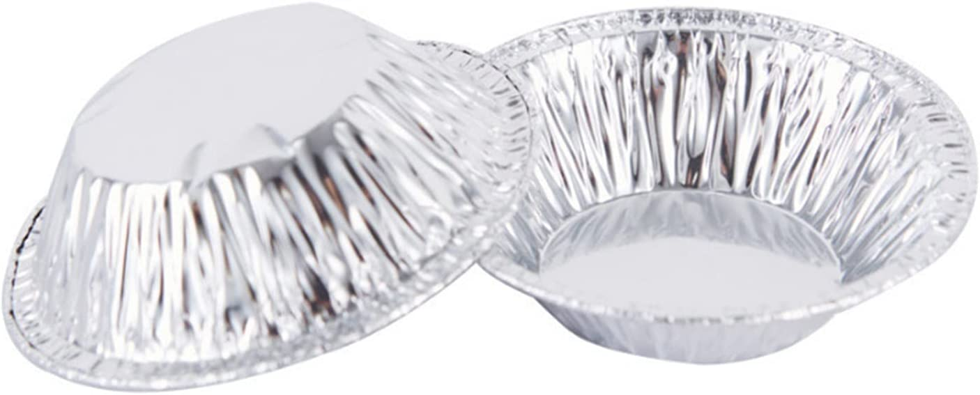 LTGJJ Aluminum safety Pans 100 Import Mold Eggtart Disposable Baking