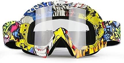 ZDATT Dirt Bike Goggles, ATV Goggles Adult Motocross Goggles Clear Lens Racing MX Goggle Glasses and Ski Goggles
