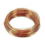 sourcing map 1.0mm diám. Cable de cobre esmaltado para devanado del imán de longitud 49,2'