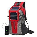 ECEEN Backpack with Solar Charger & Battery Pack for Smart Phones
