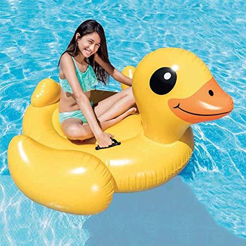 YLJYJ Colchones de Aire Verano Playa Piscina Montaje de Pato Amarillo Agua para Adultos Fila Flotante Cama Flotante Anillo de natación Grande (Espejo)