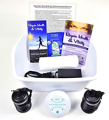 Ionic Foot Cleanse Ion Detox Foot Bath Machine. Foot Spa Bath for Home Use. Free Regain Health & Vitality Booklet & Brochure!
