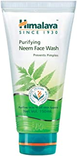 Himalaya Purifying Neem Face Wash with Neem and Turmeric for Occasional Acne, 5.07 oz (150 ml), Neem Gel (8901138511784)