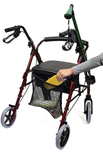 Eurosell - Premium Einkaufs Netz Trage Tasche für Rollator Gehwagen Gehhilfe/Rollstuhl/Kinderwagen