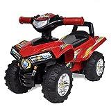 vidaXL Quad Correpasillos Infantil Sonido y Luces Rojo Moto de Juguete Niños
