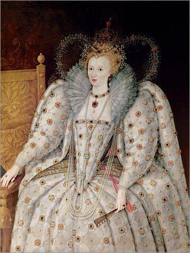 Posterlounge Cuadro de PVC 60 x 80 cm: Queen Elizabeth I of England and Ireland de English School/Bridgeman Images