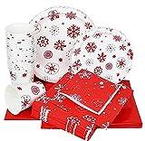 KOUQI Traje De Fiesta De Bandeja De Papel De Decoración De Pancarta De Mantel Copo de Nieve Toallas de Navidad