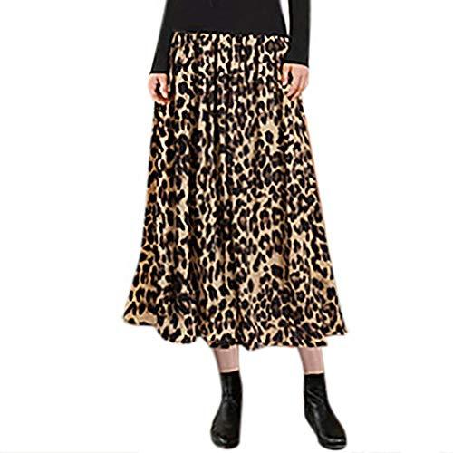 Damesrok, maat plus bedrukt, luipaard, halflang, rok van fluweel, verguld, rok voor herfst en winter, damesrok, grote maat
