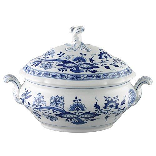 Hutschenreuther 02001-720002-11020 Zwiebelmuster Terrine, Unterteil und Deckel, 3,50 L, blau