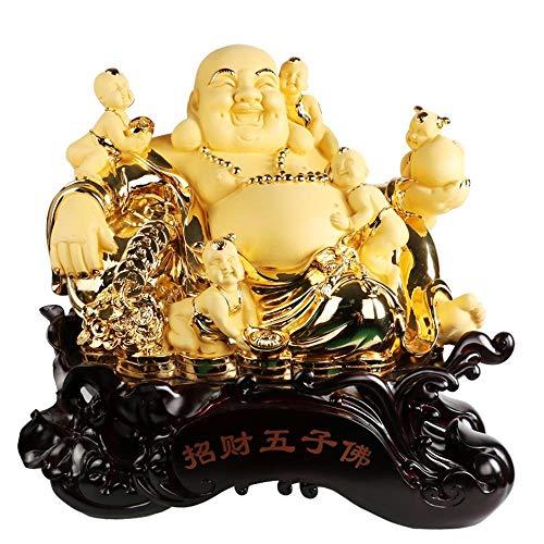 ZY&ZQ Estatua Buda/Apertura de Buda jardín decoración/Hotel Cinco niños Suerte