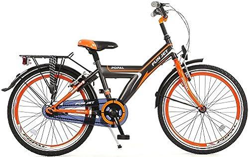 Kinderfahrrad Jungenfahrrad Popal Funjet 22 Zoll Vorradbremse am Lenker und Rücktrittbremse Orange Grau 95% Zusammengebaut