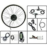 GJZhuan 250W 24V Bicicleta eléctrica E Moto Conversión Motor de la Rueda Hub Kit Frontal con KT LCD6 Display 16-28 Pulgadas 700C Kit E-Bici,27.5inch LCD Sets