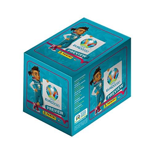 Panini EURO 2020 Preview, Sammelsticker Sonderkollektion, Display mit 60 Tütchen (300 Sticker)