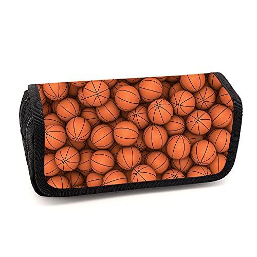 Bolsa de lápices 3D de baloncesto, maletín unisex para bebé, sencillo y práctico, adecuado para diferentes usos de la escuela de estudiantes, bolsa de cosméticos, alta calidad, A02, 21 X 10 X 5cm,