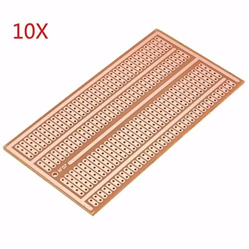 Bluelover 10Pcs 5X10Cm Einzelnes Seitliches Kupferes Prototype Papier PCB Breadboard 2-3-5 Gelenkloch