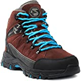 Foxelli Women's Hiking Boots – Suede Leather Waterproof Hiking Boots for Women, Breathable,...