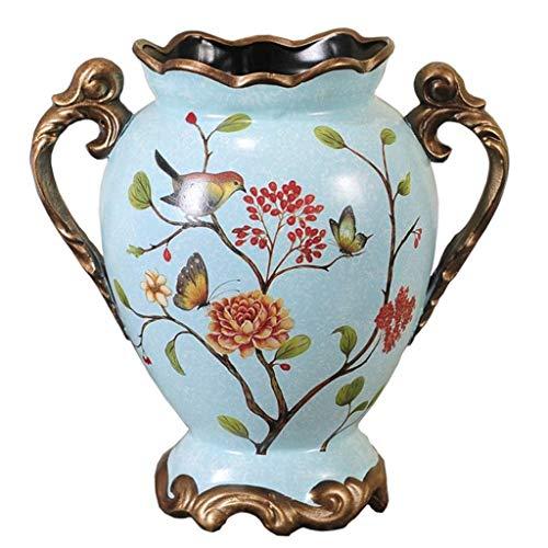 SCDZS Jarrón decorativo vintage de cerámica, decoración del hogar para sala de estar, dormitorio, cocina, etc.
