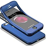 Für iPhone SE Hülle + Panzerglas, HICASER 360 Grad