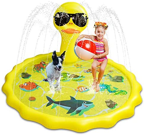 Aywewii Sprinkler for Kids Splash Pad Larger Swimming Pool Toddler Summer Play Mat Outdoor Inflatable product image