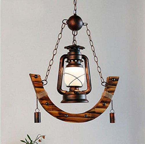 BWLZSP Lámpara de Queroseno de la lámpara de Queroseno de país Americano lámpara de bambú Restaurante de café Antiguo lámparas de lámpara de bambú Antigua lu129246py