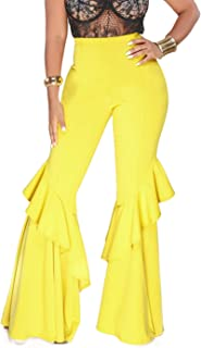 Best yellow ruffle pants Reviews