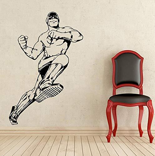 Etiqueta de la pared Pegatinas de paredrealespara habitaciones de niños Flash Wall Decal Comics Superhéroe Vinilo Adhesivo Decoración Extraíble Impermeable58x88cm