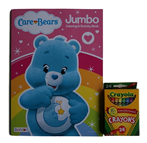 Care Bears Bedtime Bear Jumbo Coloring and Activity Book with Crayola Crayons