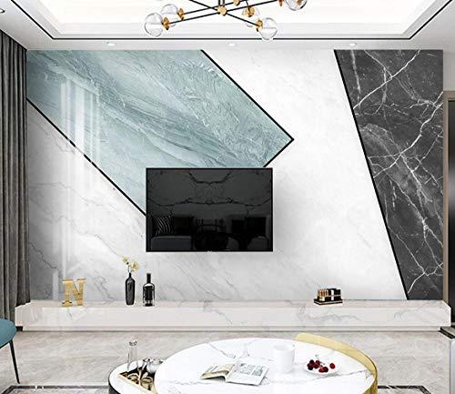 Fveng Fototapete-Modern丨Einfach丨Grau丨Geometrisch丨Marmor 丨-Wand Aufkleber Wandbild Schlafzimmer Zimmer Wohnzimmer Bibliothek Büro Dekor Malerei-150cmx105cm