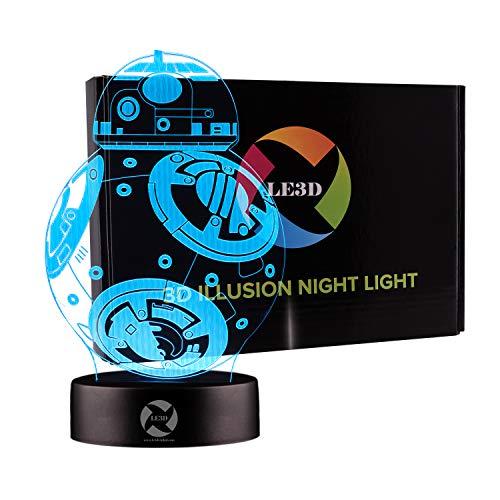 3D Optical Illusion Night Light - 7 LED Color...