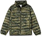 Amazon Essentials Light-Weight Water-Resistant Packable Puffer Jackets Coats Chaqueta, Camuflaje Oliva, 2 años