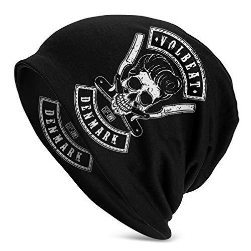 Beanie Volbeat Strickmütze für Herren und Damen, unisex, weich, mit Bündchen, Polyester, Schwarz , Einheitsgröße