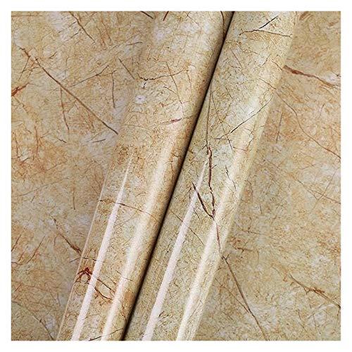 WHYBH HYCSP Küchenwandaufkleber Marmorcountertop Aufkleber Bad Selbstklebende wasserdichte Tapete (Color : Sandalwood, Size : 60cm x 2m)