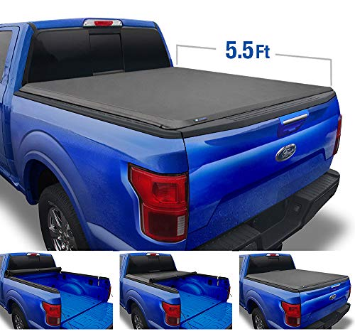 Tyger Auto T1 Soft Roll Up Truck Bed Tonneau Cover for 2015-2020 Ford F-150  Styleside 5.5