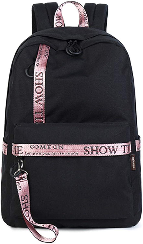 Lixin Student Bag Computer Bag Large Capacity Travel Bag (color   Black, Size   40  30  13cm)