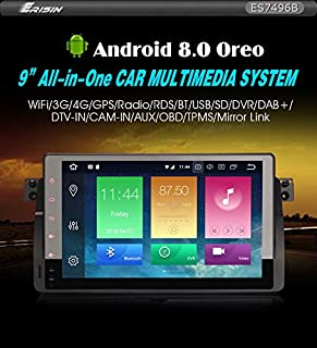 Radio erisin Car Stero es7496b 9 Android 8.0 GPS Navi BT OBD 4 G TPMS.