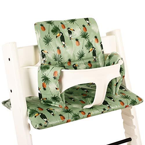 Sitzkissen Sitzverkleinerer Kissen von UKJE für Stokke Tripp Trapp Beschichtet Praktisch und dick gepolstert Tukan Maschinenwaschbar 2-teilig Öko-Tex Baumwolle
