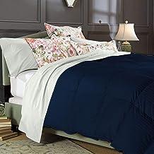 PS Linen & Bedding Stripe Design, Comforter 800 Thread Count 100% Egyptian Cotton 1 Piece King/California King Stripe Navy