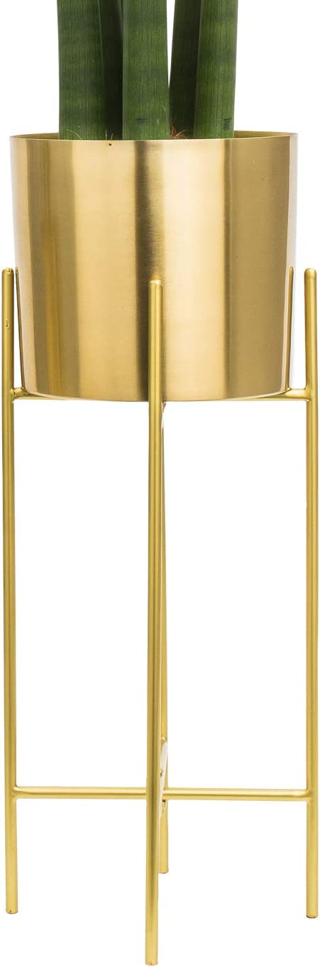 Modern Mid Century Brass Gold Planter Inch 7 Super Overseas parallel import regular item Special SALE held Stand with L