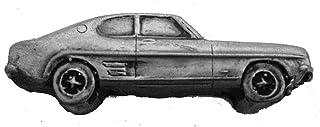 Spilla a forma di auto classica britannica Capri Mk1 ref72 effetto peltro