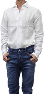 [FINAMORE(フィナモレ)] カッタウェイシャツ USTICA/MILANO 010608 メンズ [並行輸入品]