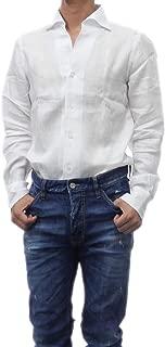 [FINAMORE(フィナモレ)] カッタウェイシャツ USTICA/MILANO 010608 メンズ (ホワイト, 39) [並行輸入品]
