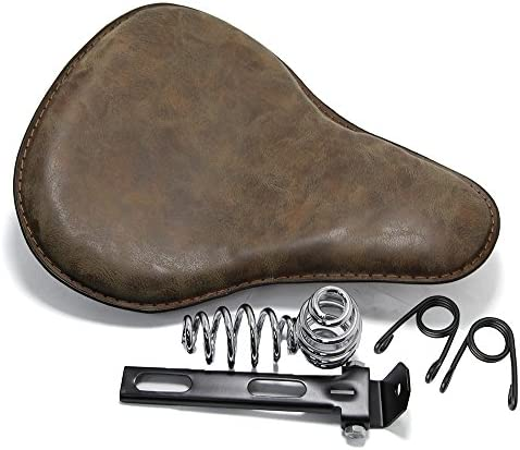 13 Brown Motorcycle Solo Seat Bracket Cushion for Harley Davidson Sportster product image