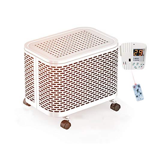 Chauffe-eau, 1000w / 2000w Petit Radiateur Électrique Ménage Économie D'énergie Chauffage Électrique Chauffage Au Sol (Couleur : Blanc)