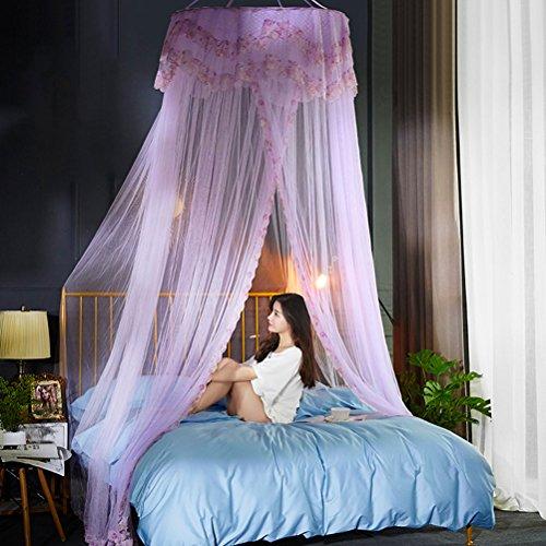 Mosquito net ZI LING Shop Princess Wind Deken Dome muskietennet 1,8 m bed 2,2 Double Home Floor 1,5 meter (paars)