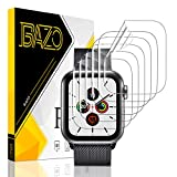 [6 Pack] BAZO Screen Protector for Apple Watch Series 6/5/4/SE 44MM, Soft Flexible TPU Scratch Resistant HD Clear iWatch Film