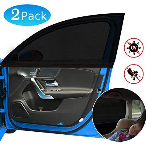 Adoric Autofenster-Sonnenblenden für Babys, 2 Stück, Moskitonetz & UV-Schutz für Kinder, Baby & Haustiere, passend für die meisten Autos