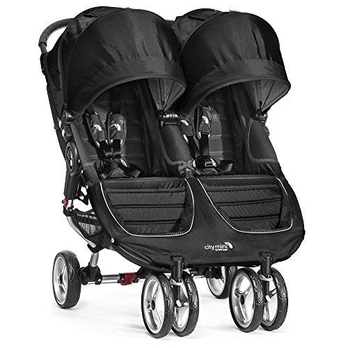 Baby Jogger City Mini Gemelar - Silla de paseo, color negro /...