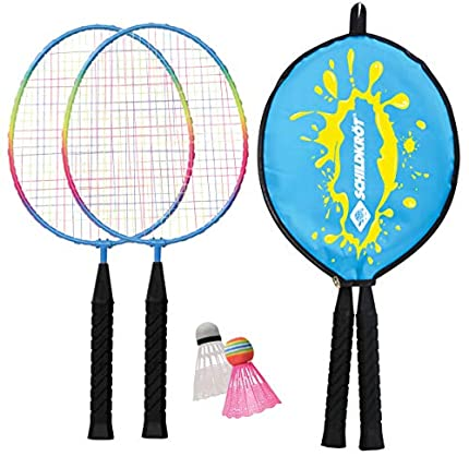 Schildkröt Set de Badminton Junior, 2 Raquetas Cortas 45,5 cm, 2 Volantes, en una Funda 3/4, 970901